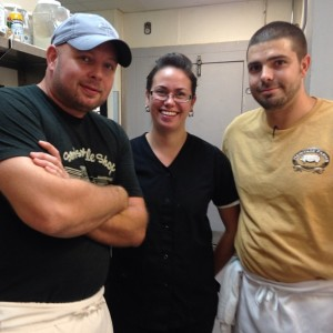 Chef Scott James, Jeanne Sutherin, and Chris Santucci